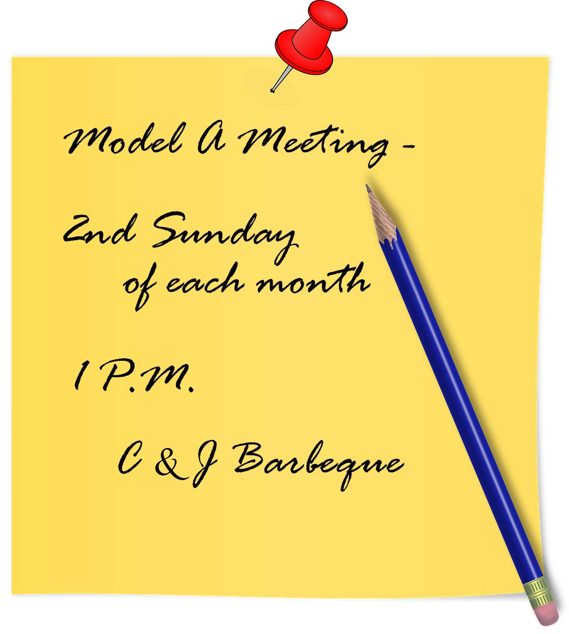 Ford Model A meeting reminder